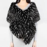 kış için gelin sargılar toptan satış-2018 Sıcak faux kürk şal Düğün Wrap Kış Düğün Bolero Ceket Gelin Ceket Aksesuarları siyah kürk şal Cape Coat