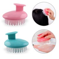 Wholesale soft plastic material online - Plastic Air Sac Relieve Itching Meridian Combs Silicone Material Round Suit Hand Shape Comb Creative Soft Cosiness Massager sd Z