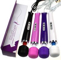 frauen-zauberstab großhandel-10 Geschwindigkeiten Zauberstab Massagegerät Ganzkörpermassage AV Vibrator Stick mit starken Motor Sex Toys für Frauen