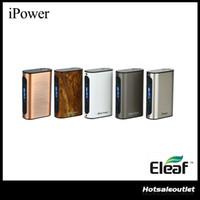 connecteurs d'alimentation achat en gros de-Authentique Eleaf iStick Power Batterie TC Mod avec 5000 mAh Batterie Intégrée iPower Mod Max Sortie 80W 510 Connecteur Printemps 100% Original