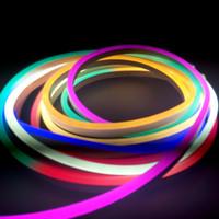 ingrosso tubi flessibili condotti-7M 7 colori 49m LED Flex Light Neon Strip Tube 220Volt 120L / M con spina di alimentazione EU per Outdoor Street Bar Indoor KTV Lighting Lampara Decorare