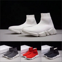 Wholesale cheap free runners - 2018 Luxury Sock Shoe Speed Trainer Race Running Shoes Sneakers Runners Grey Red Shoes men women Cheap Sports Boots