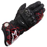 ingrosso guanti in pelle ktm-Guanti moto GP PRO stile caldo KTM 4 guanti moto da corsa in pelle verniciati