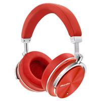mikrofonlu kablosuz bluetooth kulaklık toptan satış-Bluedio T4 Kulaklık aktif gürültü iptal kablosuz Bluetooth kulaklıklar orijinal telefonları ile mikrofon için folable ANC kulaklık Müzik 1 adet