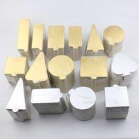 gold papppapier groihandel-100 stücke Multi Formen verfügbar Gold Mousse Karton Basis Pad Silber Mousse Kuchen Papier Fach Halter