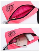 Wholesale Running Phone Belt - Pink Pack Pink Letter Waist Belt Bag Fashion Beach Travel Bags Waterproof Handbags Purses Outdoor Small Cosmetic Bag Casual Phone Bags