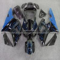 yzf r1 kit de carenagem chama venda por atacado-23 cores + 5Prestos de fogo azul YZFR1 00-01 Motocicleta Carenagem Para yamaha YZF-R1 2000 2001 YZF R1 carroçaria kit de plástico