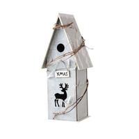 ingrosso illuminazione cabina-Cabina europea con accessori per la casa degli uccelli di luce Decorazioni in legno per la piccola casa in legno nordico innovativo