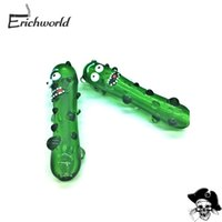 Wholesale green modeling - Smoking Accessories Tobacco Pipes Cucumber Modeling Glasses Pipe Party Funny Glass Pipe Tobacco Pipe