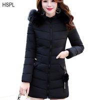 Wholesale Nice Jackets - 2017 New Parkas Female Women Winter Coat Thickening Ladies Basic Jacket Snow Women Warm Natural Hoode Coats Nice Down Jackets