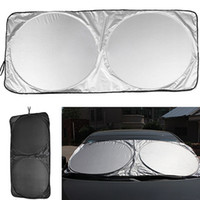 Wholesale rear blocks resale online - 150 cm Car Window Film Folding Jumbo Front Rear Car Window Sun Shade Auto Visor Windshield Windscreen Sun Block Cover UV Protect