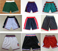 Wholesale usa basketball shorts - Wholesale Mens Basketball Shorts 1992 USA Dream Team Pants 1996 All Star Shorts Quick Dry Breathable Sweatpants Tune Squad Space Jam Shorts