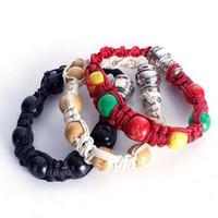rasta armbänder großhandel-Neue tragbare Metall Armband Rauch Pfeife Jamaika Rasta Rohr 3 Farben Geschenk für Mann und Frau