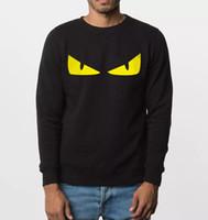 ingrosso hoodies arrabbiato-Wholesale- divertente felpa nuovo autunno inverno Angry eyes uomini felpe con cappuccio stile hip hop abbigliamento in pile top tuta con cappuccio