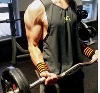 maillots de lycra achat en gros de-New Musculation Gymnases Gilet Bodybuilding Vêtements Fitness Hommes Maillot Débardeurs Golds Gymnases Maillot de Sport Sportswear