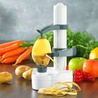 Wholesale Peel Apples - Multi-function Automatic Electric Apple Pear Potato Peeler Vegetable Slicer Peeling Machine Kitchen Tools Without Power Cord CCA8449 5pcs