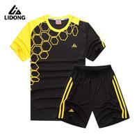 kits juveniles al por mayor-Kids Soccer Jerseys Sets Survetement Fútbol Jersey Suit Youth Sports Kit Camisas Shorts Uniformes Chándal de Impresión Personalizado