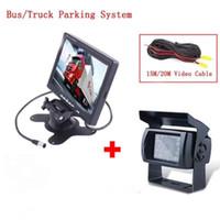 moniteur de caméra de camion achat en gros de-Moniteur de 7 pouces TFT avec un appareil photo étanche pour caméra de bus / camion