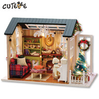 Wholesale CUTEBEE Doll House Miniature DIY Dollhouse With Furnitures Wooden House Toys For Children Holiday Times Z009