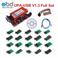 Wholesale Upa Usb Programmer - Wholesale-2017 Promotion New Selling Upa Usb Programmer With Tms And for Nec Adapters Full V1.3 Upa-usb Ecu Chip Tuning Programming Tool