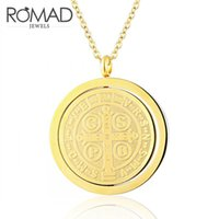 Wholesale carved buddha jewelry - Romad New Buddha Necklace Round Shaped Rotatable Necklace for Women Double Carved Prayer Jewelry For Men & Women collares R4
