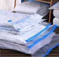 Wholesale Vacuum Valve - Transparent Border Clothes Vacuum Bag With Valve Foldable Compressed Organizer Travel Home Storage Bag Space Saving Seal Bags