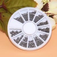 nail ball tool 2018 - Different Size Nail Art Caviar Metal Bead Gray Mini Steel Ball 3D Tips UV Gel Polish Manicure Jewelry DIY Decoration Tools Wheel