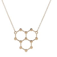 Wholesale chemistry necklace resale online - Jewelry pc Ice Hydro Molecule Science Chemistry Pendants Necklaces Unique Water H2O Molecule Necklace For Cute Women