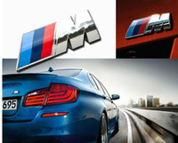 Wholesale car emblems stickers bmw - Car styling ABS Car M Power Performance Badge Fender Emblem Sticker 3D M for BMW EEA258