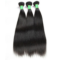 Wholesale 6a straight virgin human hair resale online - 100 Brazilian Human Remy Straight Hair Extension quot Jet Black Virgin Hair Weave a Double Weft Hair