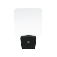 iluminación led para fábricas al por mayor-Mini RGB LED Lámpara de noche óptica Sensor de luz incorporado EE. UU. Enchufe de pared 7 Luces RGB En blanco Placa de acrílico Fábrica al por mayor CE FCC UL