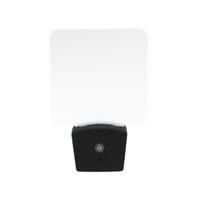 mini sensor de luz al por mayor-Mini RGB LED Optical Night Lamp Sensor de luz incorporado US Wall Plug7 RGB Lights Placa de acrílico en blanco al por mayor