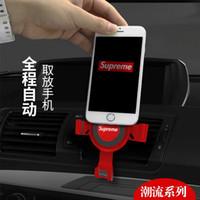 универсальная подставка оптовых-Универсальный противоскольжения Автомобильный телефон Держатель Air Socket Крепление Зажим Регулируемая подставка для мобильного телефона Кронштейн GPS Инструменты для укладки автомобилей
