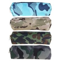 Wholesale camouflage pencil case - Large Capacity Camouflage Style Pencils Case Stationery Pen Storage Box Organizer Material Escolar Office Supplies Kalem Kutusu