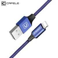 braided iphone cords Canada - Cafele Nylon Braided USB Cable 8 Pin USB Charging Cord for iPhone 7 Plus 6   5s   5c   5 Fashion