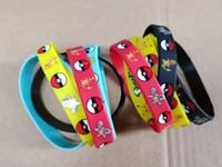 Wholesale cosplay wristband for sale - Pikachu Silicone Bracelets Pocket Monster Wristband Soft pokeball Wrist band Straps Figures Kids Toys Kids christmas cosplay Hallowmas Gift