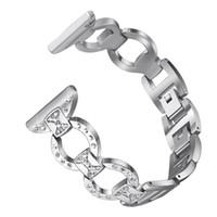 o bağlantı toptan satış-Fitbit Versa için O-Link Yedek Bilek Kayışı Metal Rhinestones Watch Band İzle Metal band 1