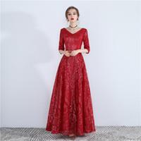 ingrosso kim kardashian rosso vestito raso-Banchetto abito da sera temperamento abito rosso sexy auto cultura ospite galateo Abiti da sposa orientali accappatoio