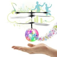 Wholesale RC Flight Ball Flying Ball Induction Aircraft Light Mini Heli Toy Shine Musical Shape Gift Children s RC Toy