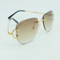 eski şovlar toptan satış-Vintage Çerçevesiz Güneş Gözlüğü Erkekler Popüler Moda Şık Güneş Gözlükleri Toptan Kadınlar Gölge Gözlük Açık Gösteri Dekorasyon