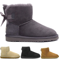 5731510c9 New designer WGG Women's Australia Classic knee Snow Boots Ankle boots  Black Grey chestnut navy blue Discount Women girl boots Size US 5-10