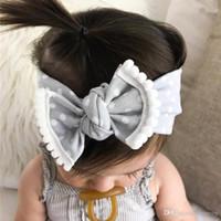 accesorios para la banda de algodón al por mayor-INS Baby Girls Diademas Bowknot Dot hairband Niños Arco Anudado Elástico Algodón bandas para niños Infantiles Accesorios para el cabello Headwear KHA562