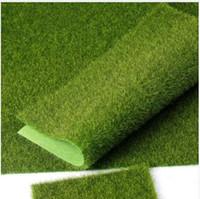 ingrosso tappeto erboso artificiale-Micro paesaggio decorazione fai da te mini fata giardino simulazione piante artificiale finto muschio decorativo prato tappeto erboso erba verde