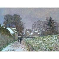 ingrosso meglio dipinta a mano-I migliori dipinti ad olio Neve ad Argenteuil 02 Claude Monet Dipinti a mano Pittura di paesaggi per l'arredamento della camera
