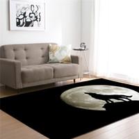 decoración del hogar amarillo al por mayor-3D lobo impresa alfombras para sala de estar sala de estar de la sala de estar gran área del rectángulo grandes esteras de yoga alfombras modernas al aire libre decoración del hogar