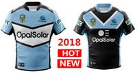 Wholesale Sharks Shirt - Hot sales 2018 CRONULLA SHARKS rugby Jerseys home away ALTERNATE NRL National Rugby League nrl Jersey 18 19 Australia shirt s-3xl