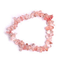 Wholesale chip women resale online - 2018 Chakra Bracelets Colors Healing Crystals Natural Stone Chips Single Strand Stretch Bracelets Bangle For Women Birthday Gift G848F