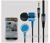 Wholesale clear earphones - New 3.5mm In-ear HUAST-22 Earphone Super Clear Bass Metal Earphones Headphone Noise Isolating Earbud for MP3 MP4 Mic Cell phone Earphone
