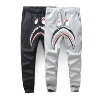 hai harem großhandel-New Lover's Black Shark dünne Hosen Hosen Teenager Fashion Harem Hip Hop Hosen Sportswear Hosen Jogger Jogging Jogginghose