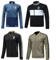 Wholesale real madrid tracksuit - 2018 Real Madrid Football jacket tracksuit 18 19 RONALDO de foot DYBALA BALE RAMOS ISCO jacket juventus Training suit